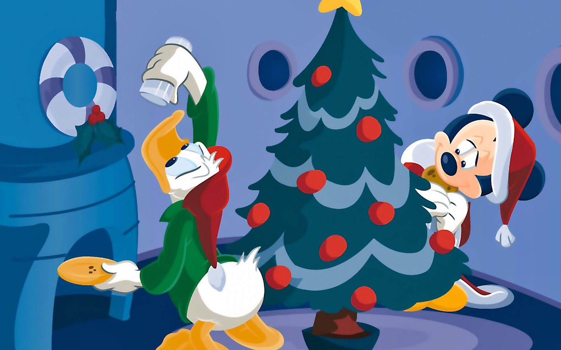 Donald y Mickey Mouse - 1920x1200
