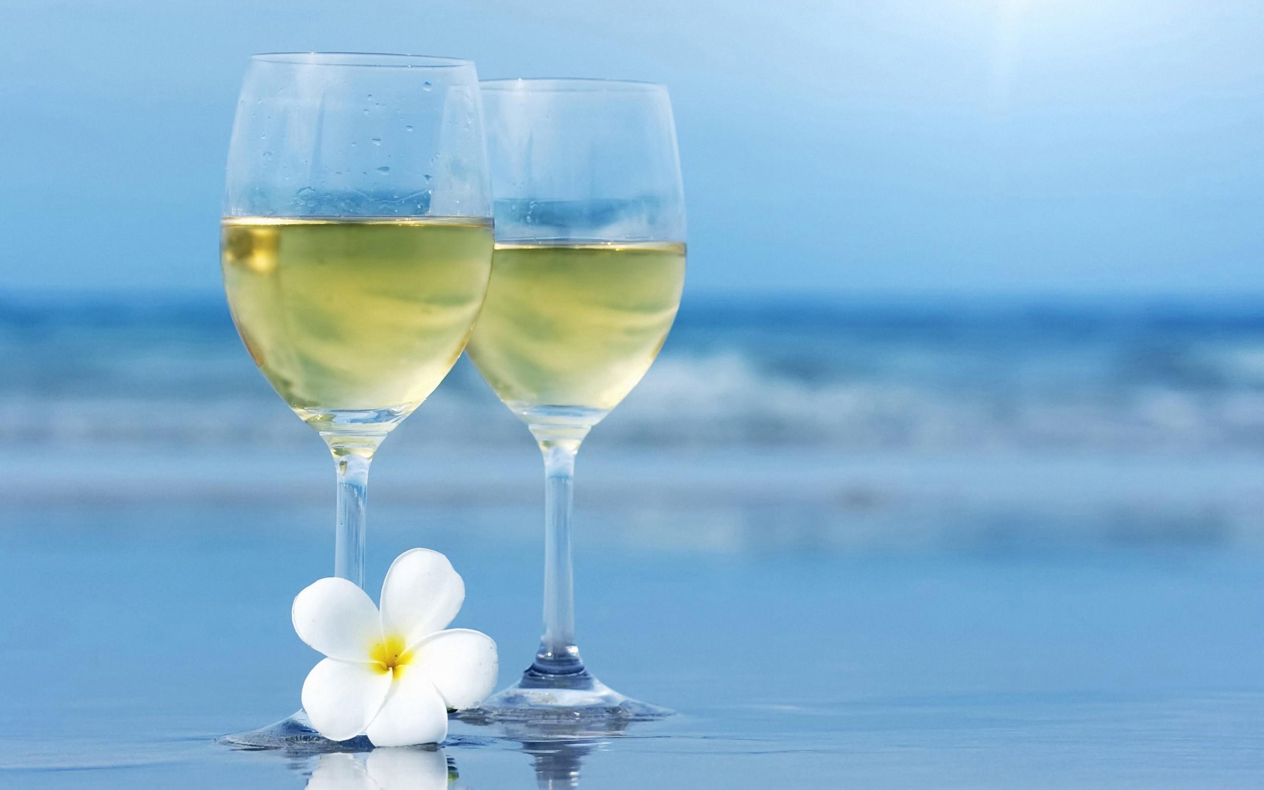 Dos copas de champagne - 2560x1600