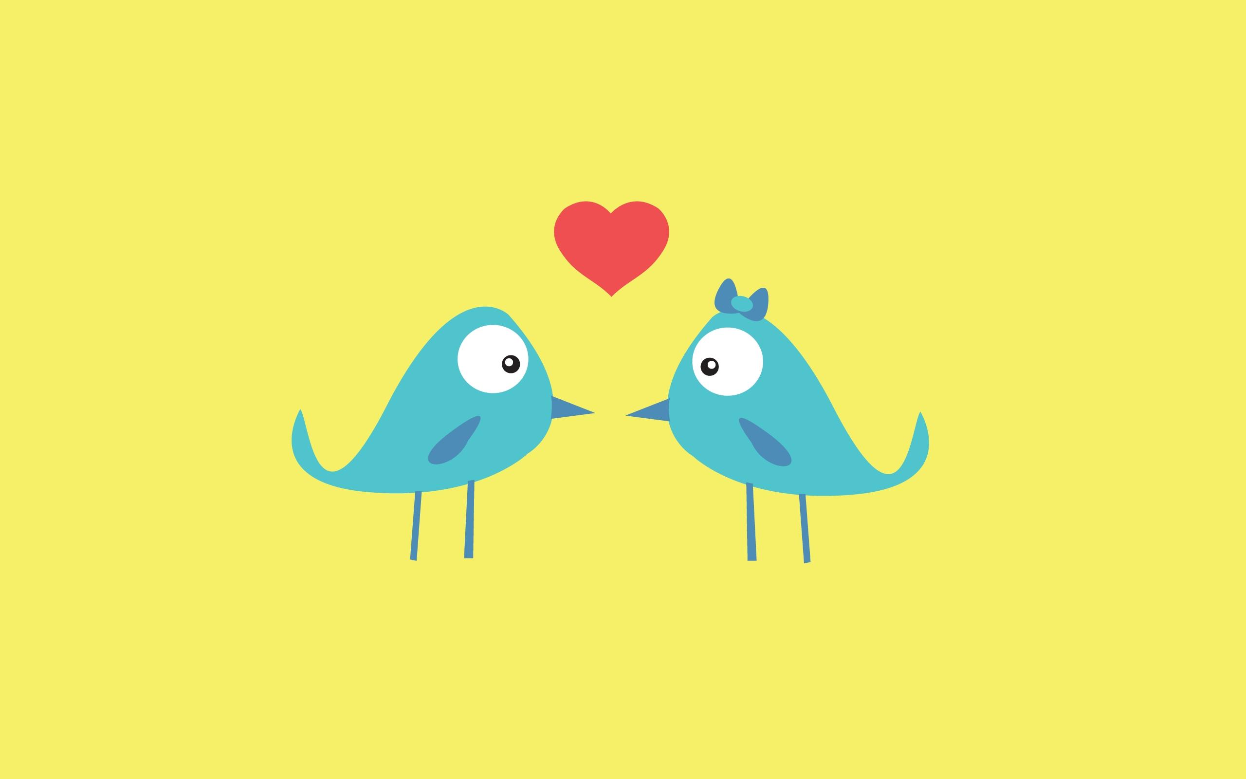 Dos pararitos enamorados - 2560x1600