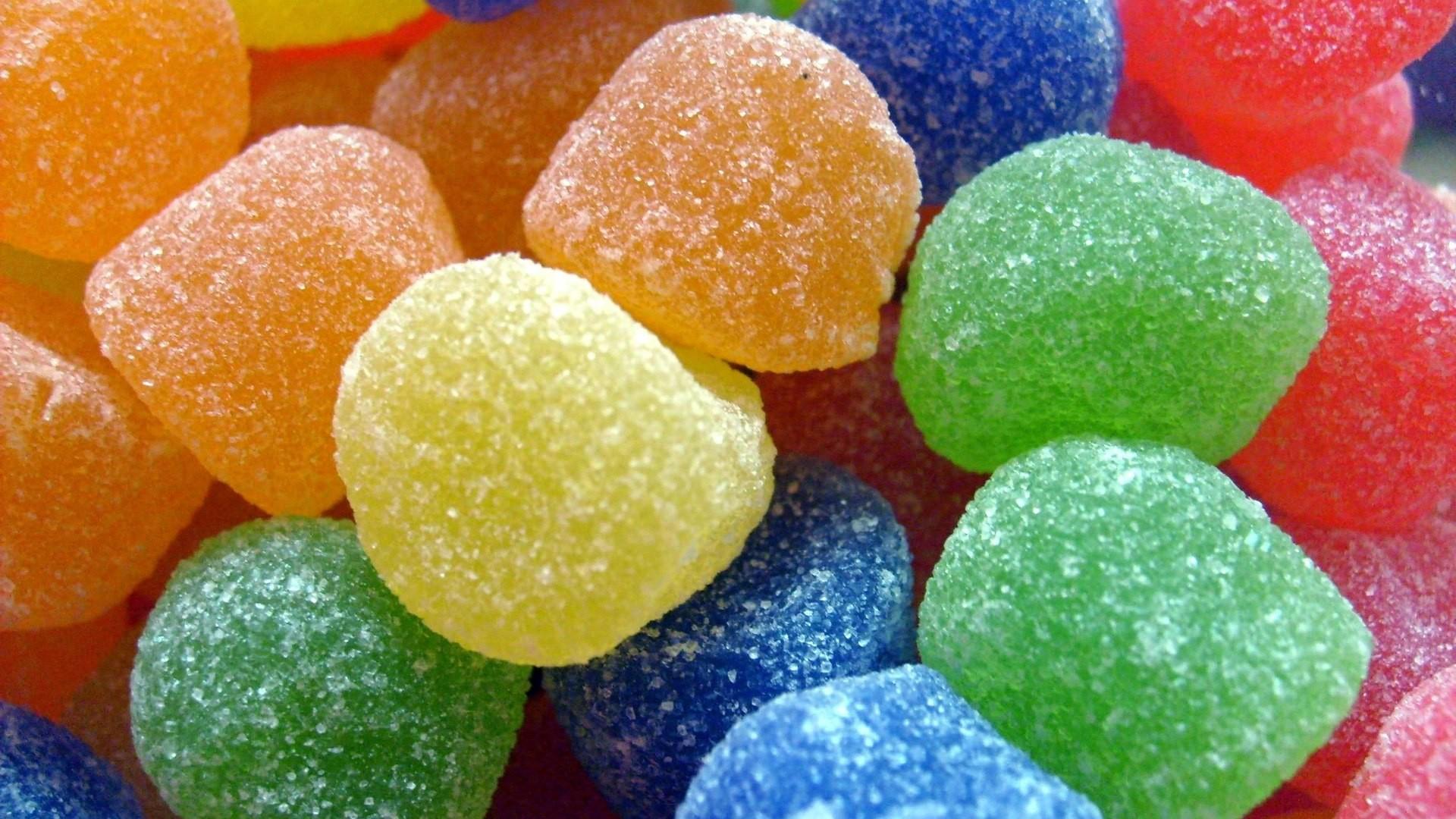 Dulces gomitas de colores - 1920x1080