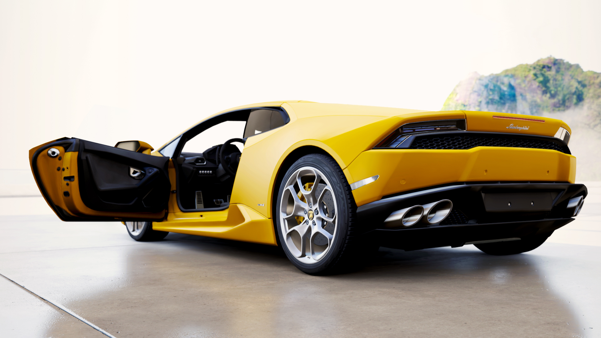 El clásico Lamborghini amarillo - 1920x1080