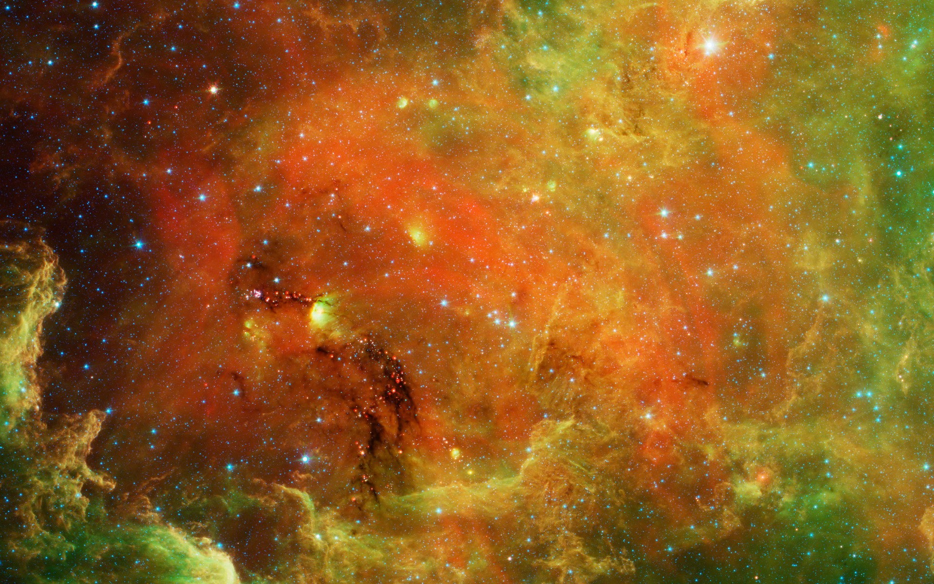 El espacio exterior de colores - 1920x1200