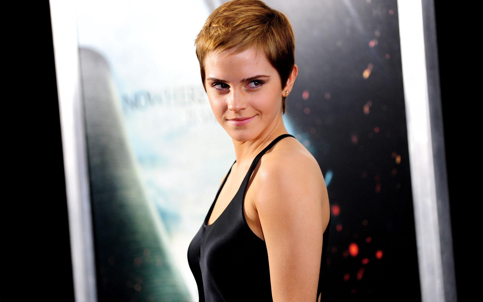 Emma Watson con cabello corto - 1920x1200