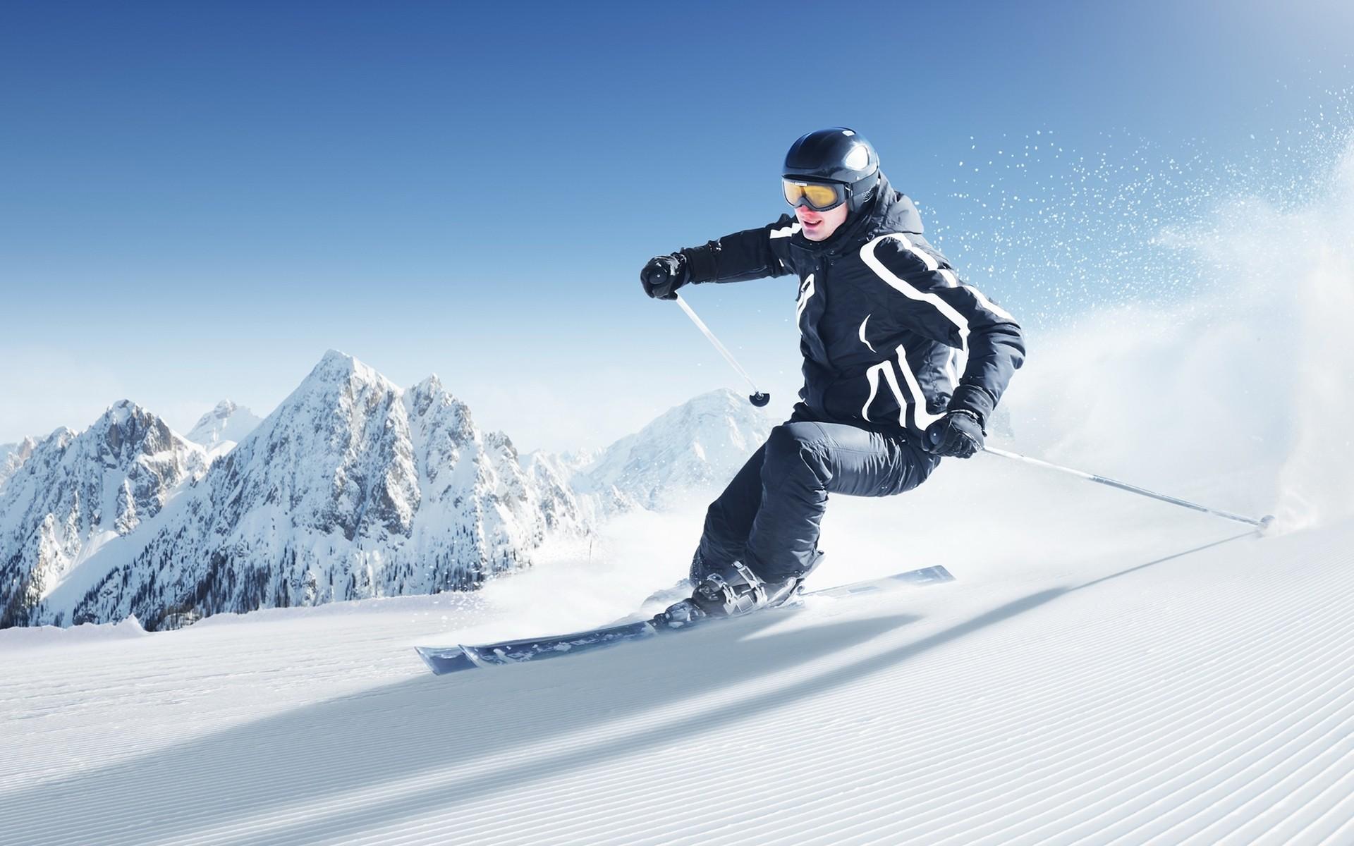 Esquiar en la nieve - 1920x1200