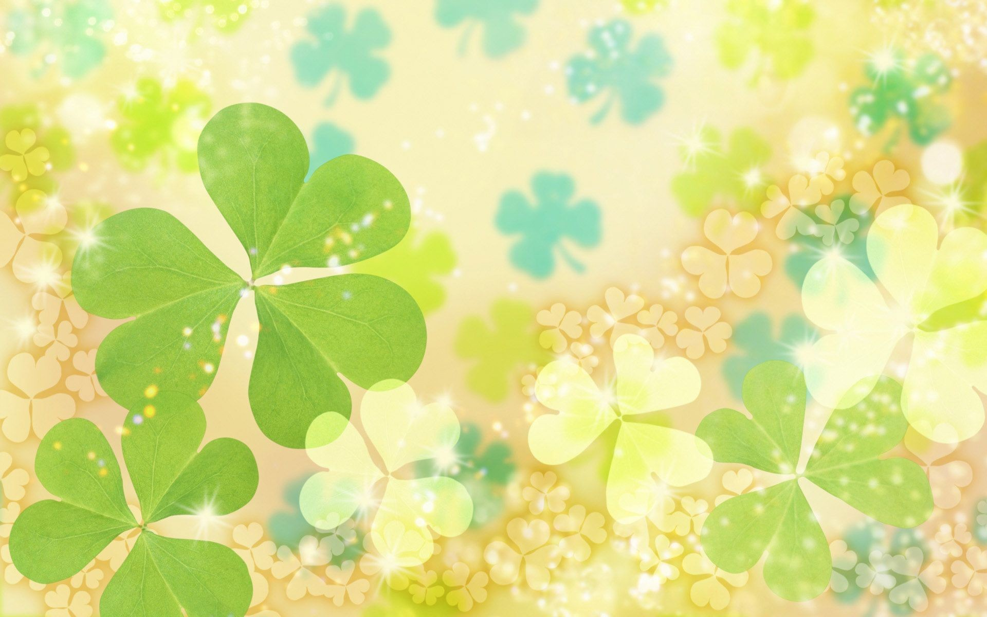 Flores y hojas en digital - 1920x1200