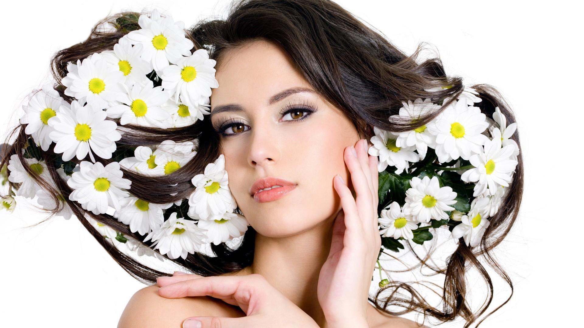 Flores y rostros hermosos - 1920x1080