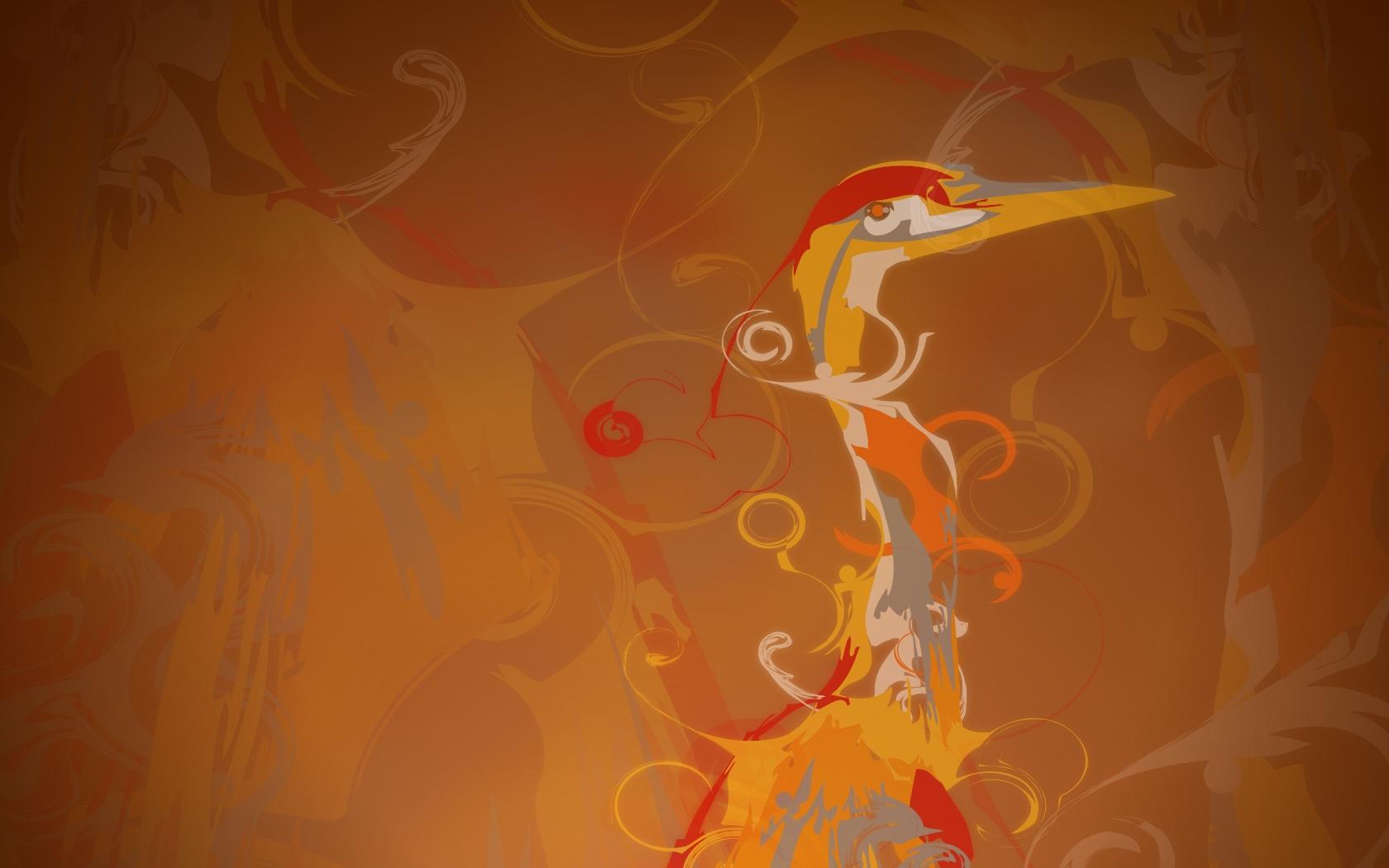 Fondo marron abstracto - 1680x1050