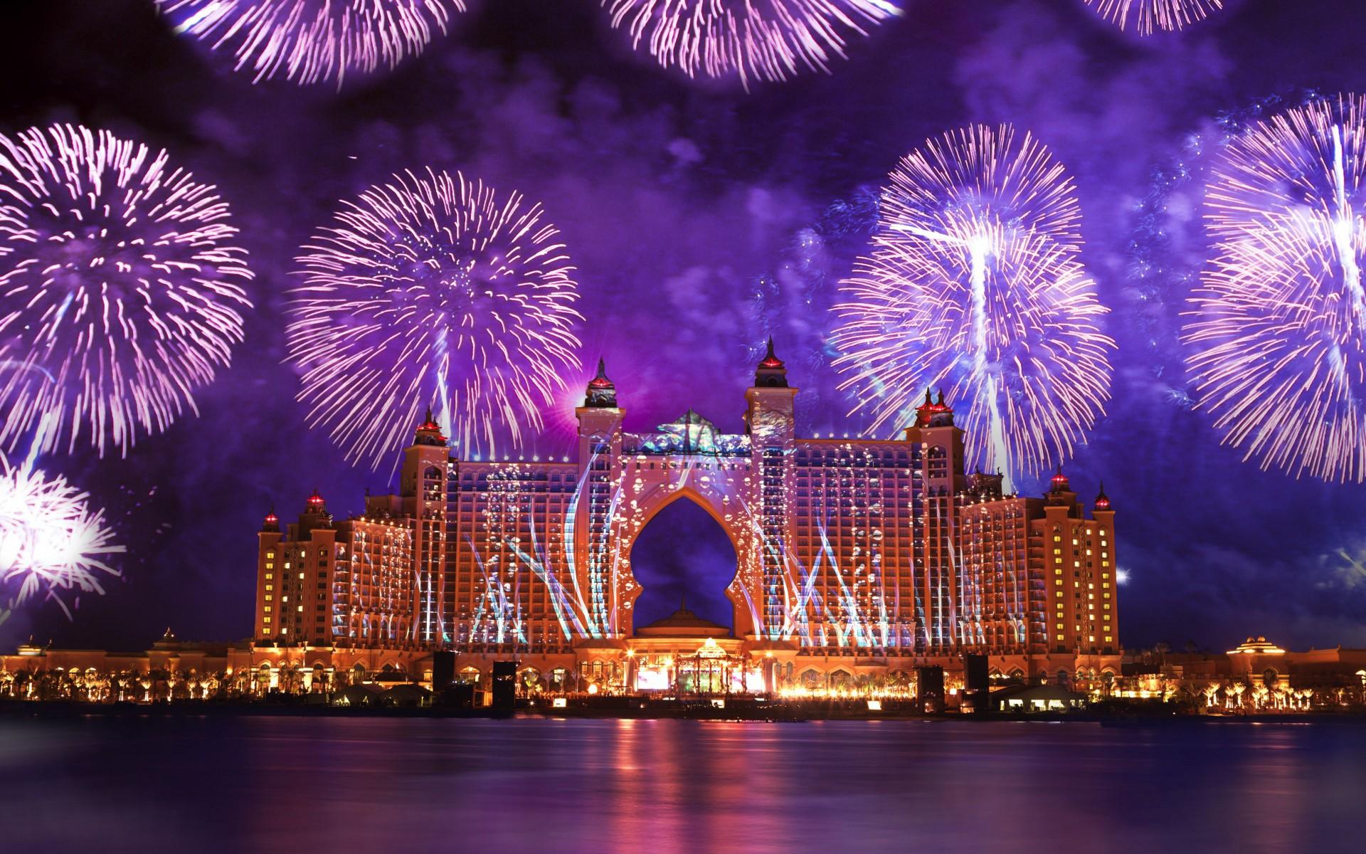 Fuegos Artificiales en Dubai - 1920x1200