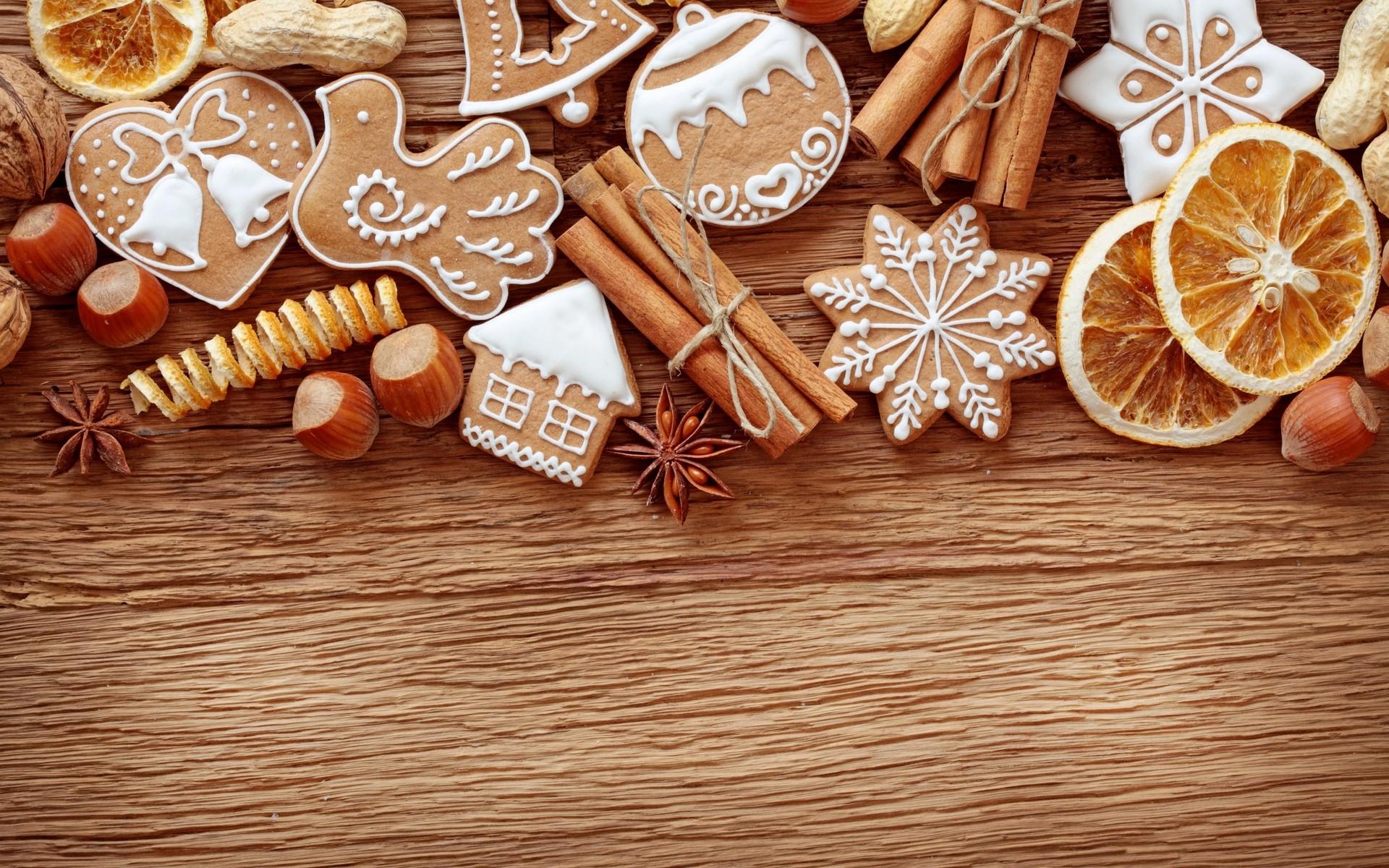 Galletas y dulces por navidad - 1920x1200