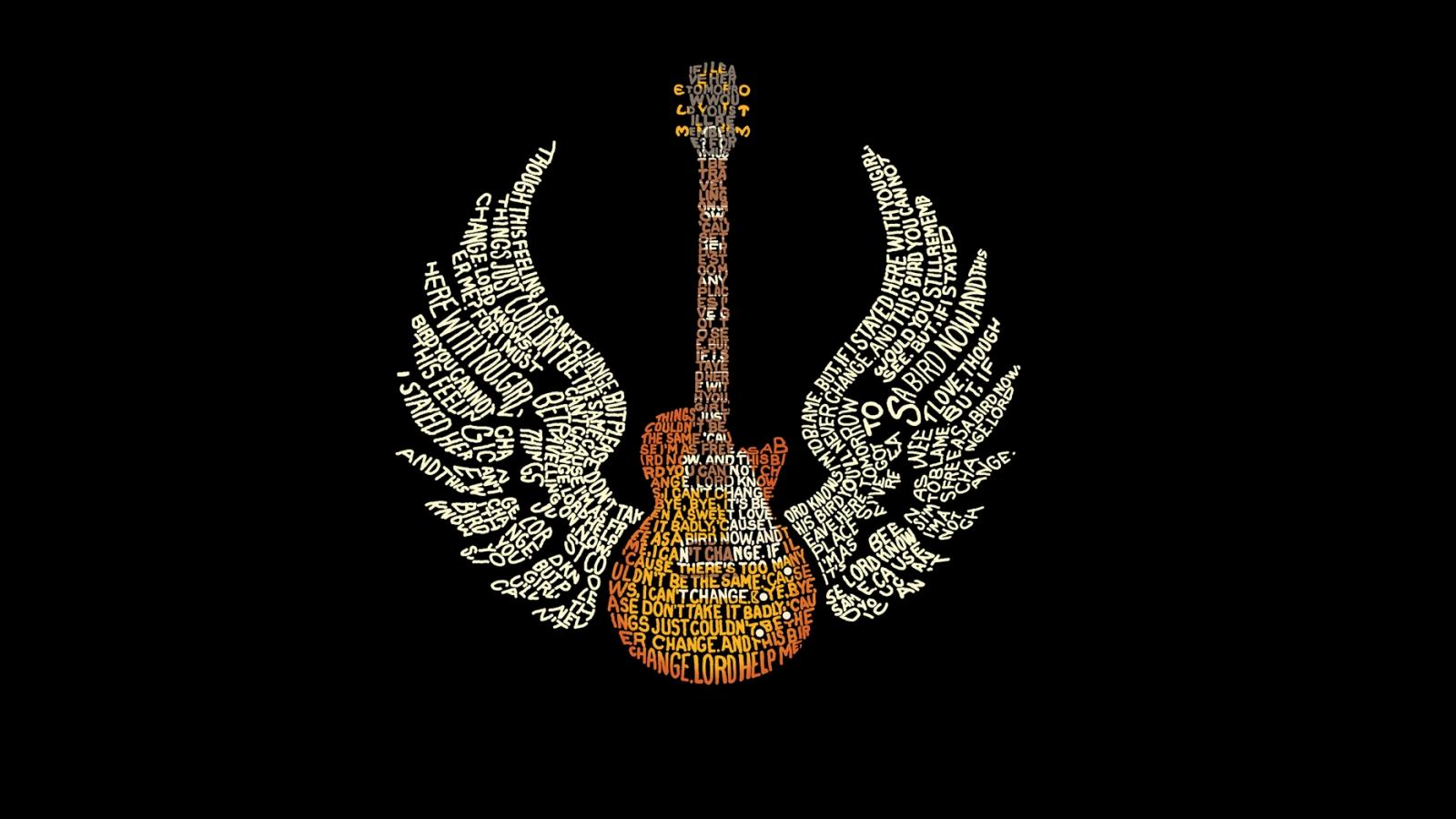 Guitarra Gibson con alas - 1600x900