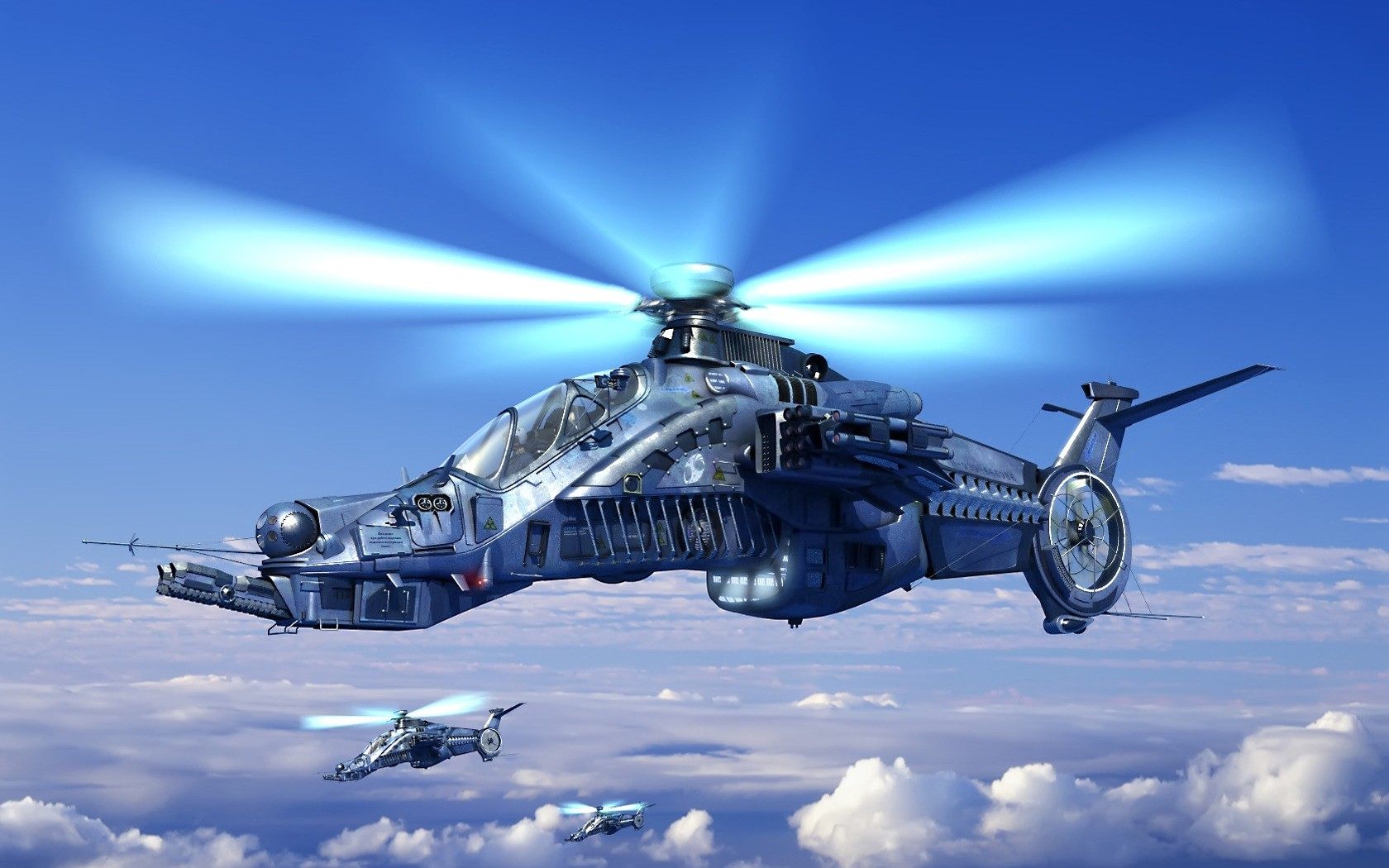 Helicóptero de videojuegos - 1680x1050