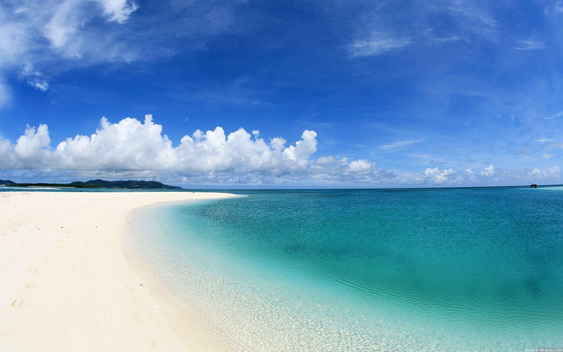 Hermoso mar azul - 1920x1200