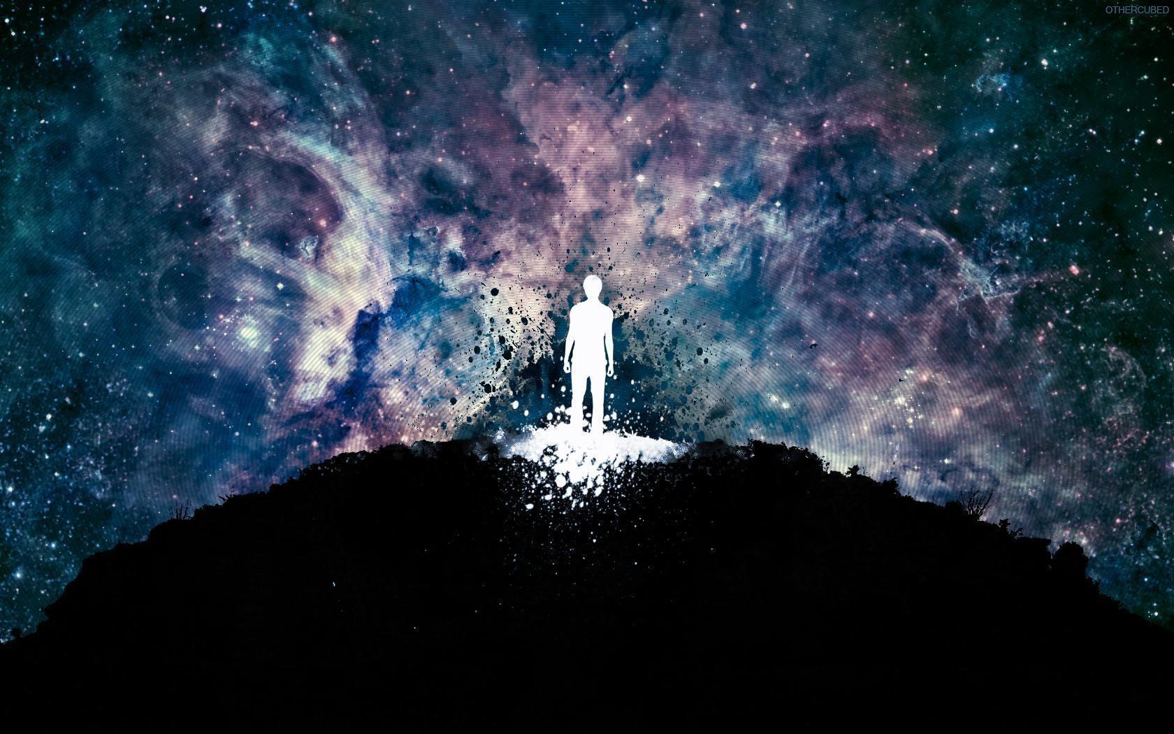 Hombre y universo - 1680x1050