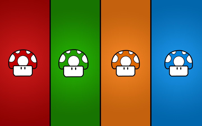 Honguitos de colores - 1440x900
