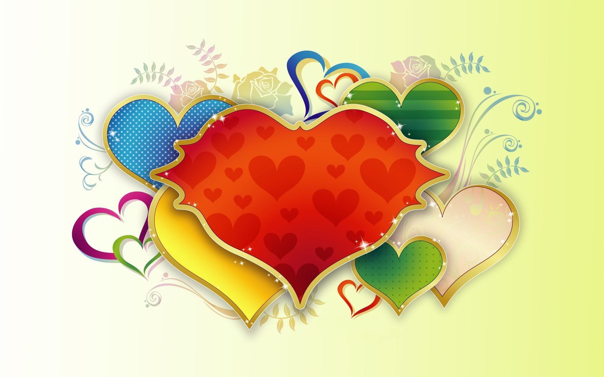 Imagen creativa de amor - 1920x1200