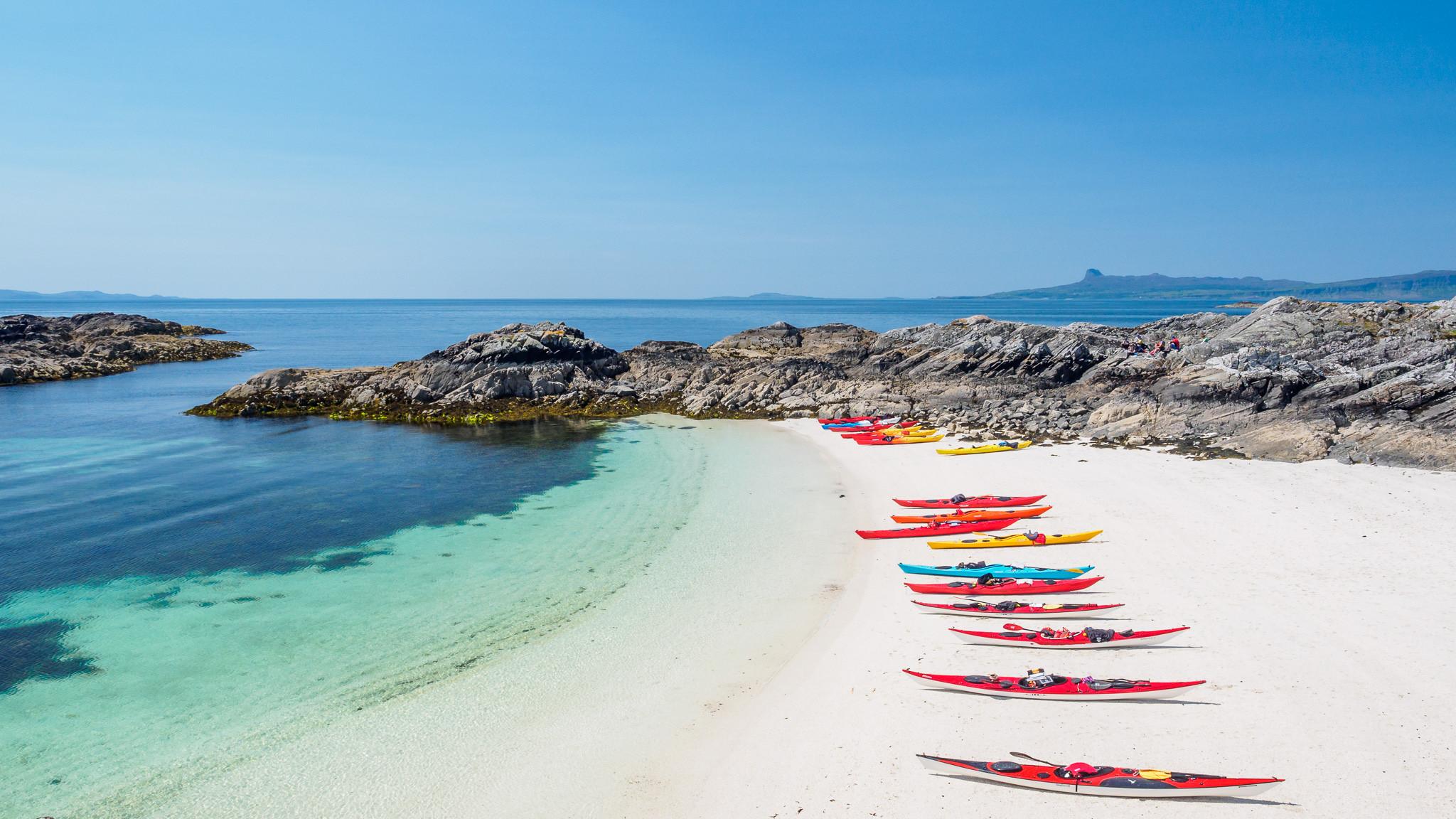Kayak en playas - 2048x1152