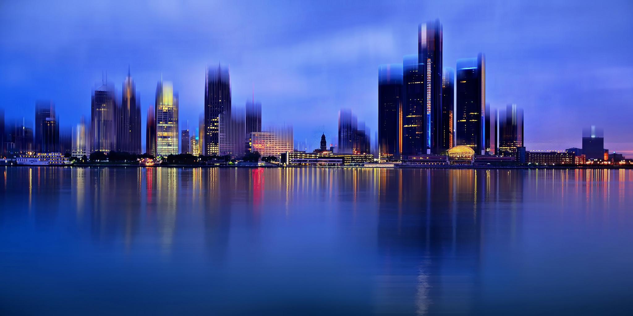 La ciudad de Detroit - 2048x1024