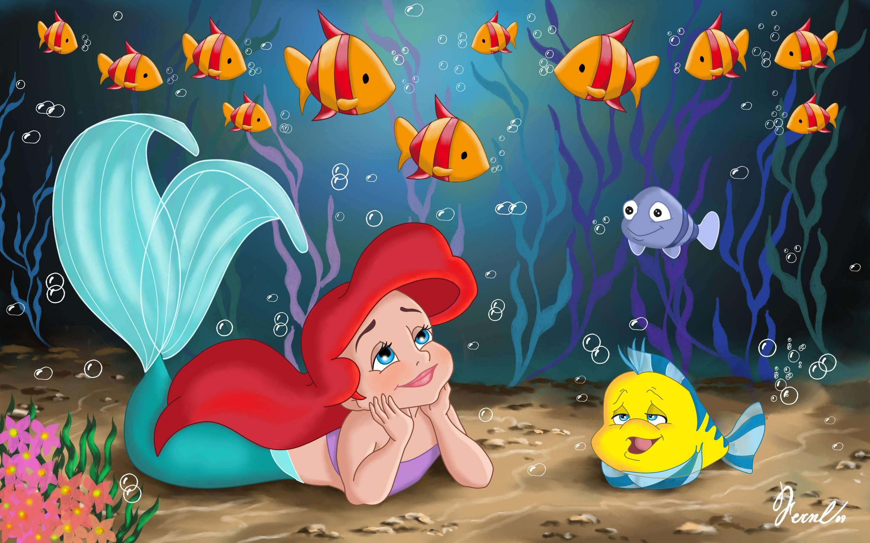 La sirenita de Disney dibujo - 2880x1800