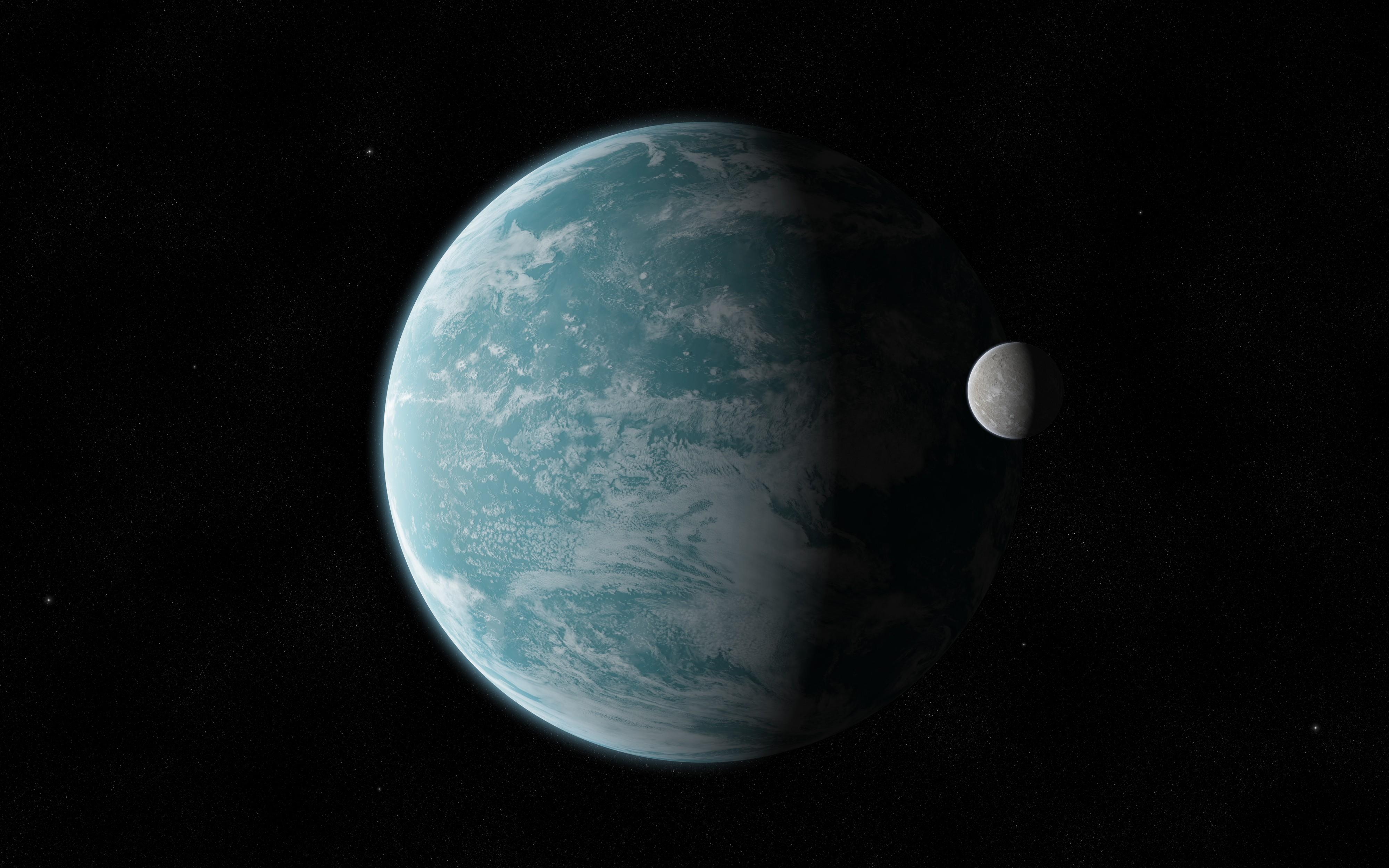 La Tierra y su luna - 4000x2500