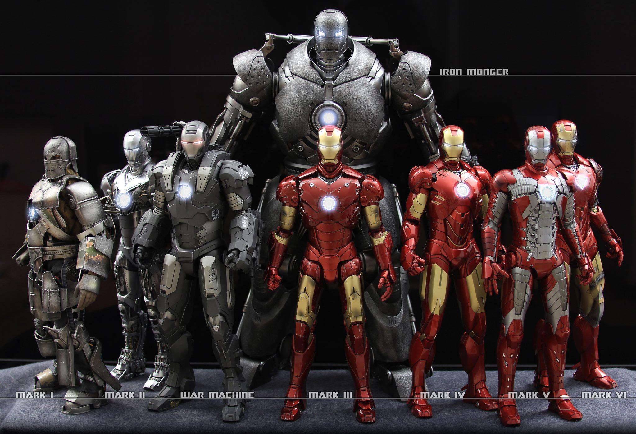 Los trajes de Iron Man - 2048x1396