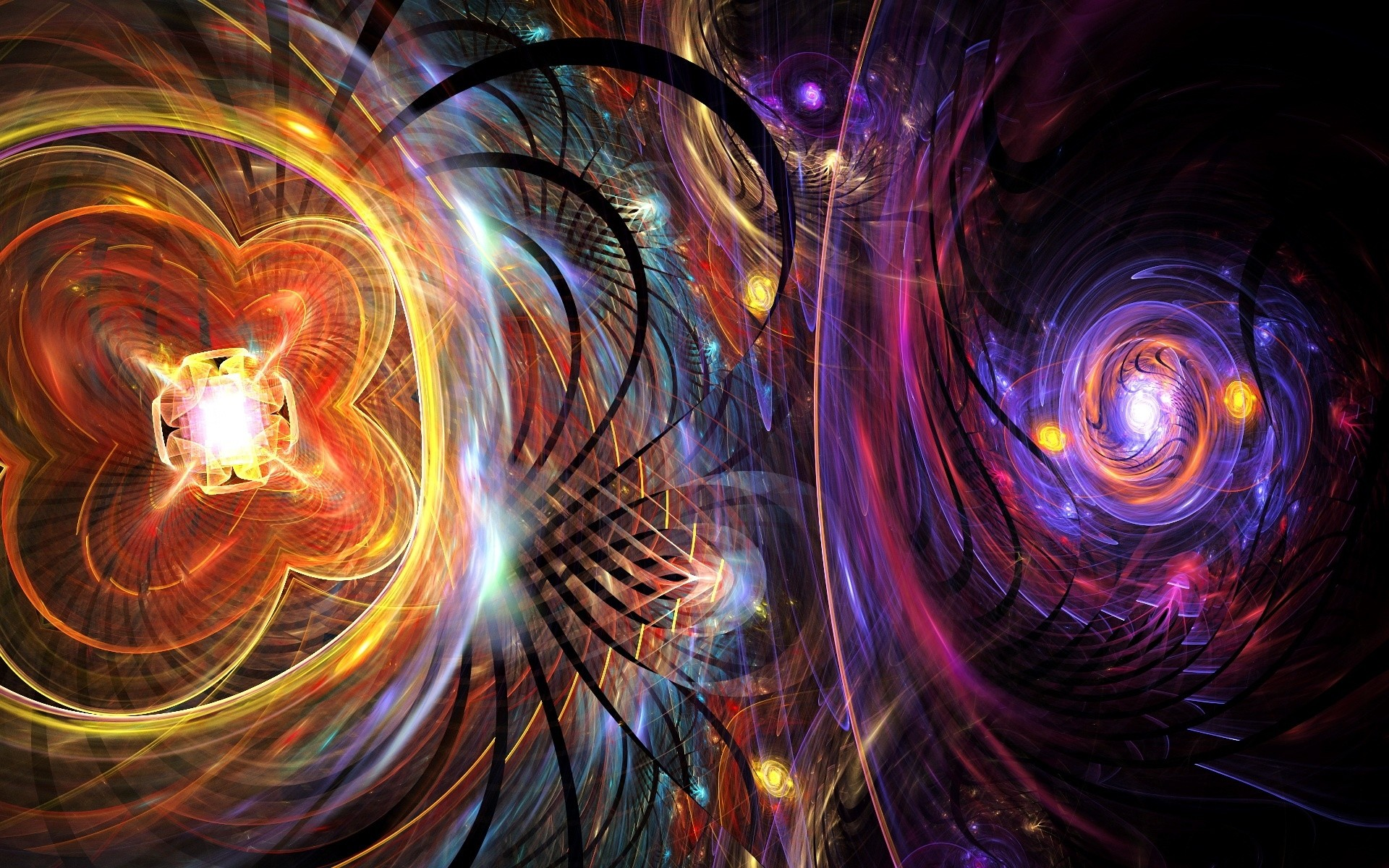 Luces de neon abstractas - 1920x1200