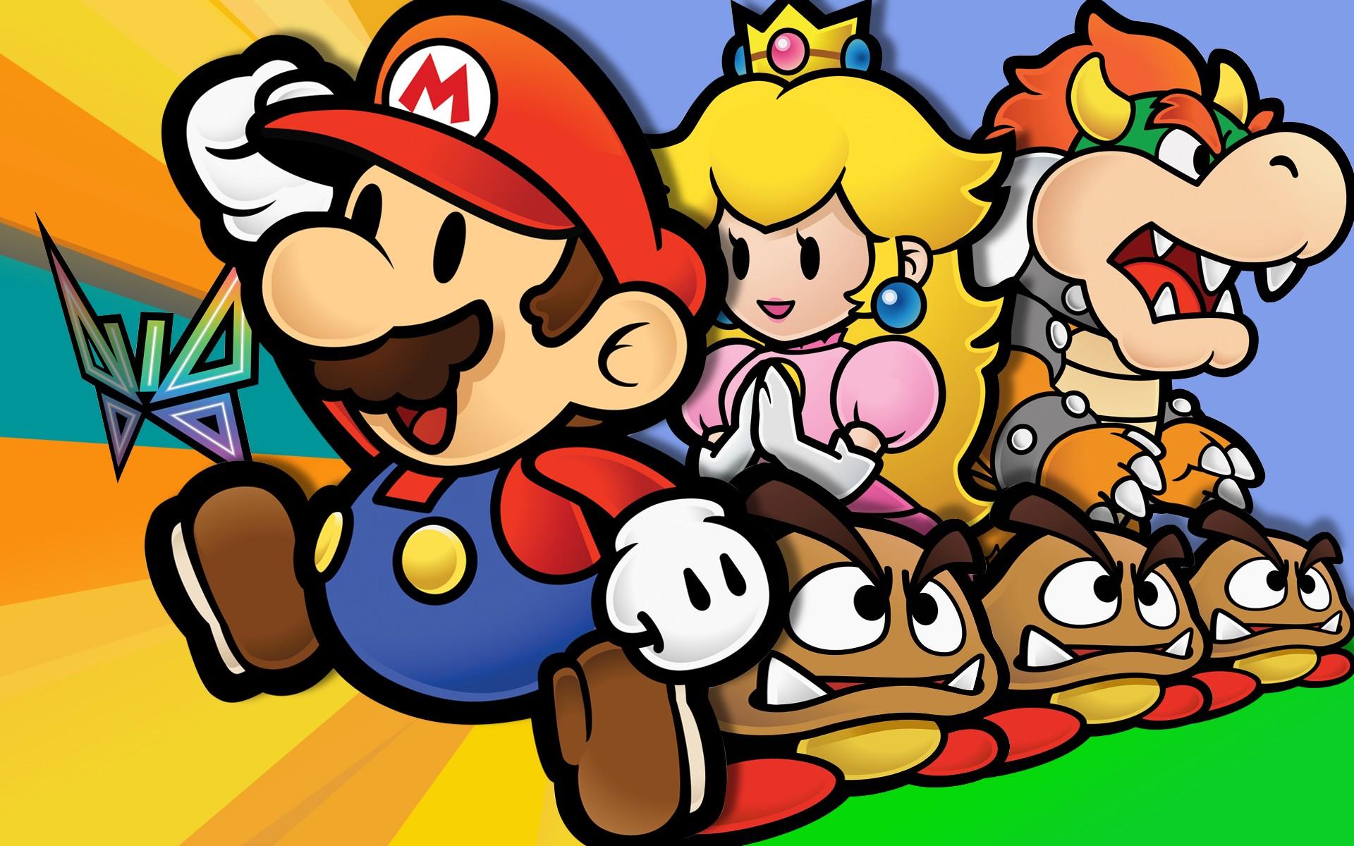 Mario Bros y sus personajes - 1920x1200