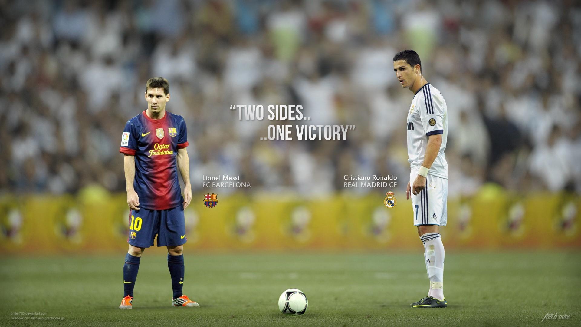 Messi y Cristiano - 1920x1080