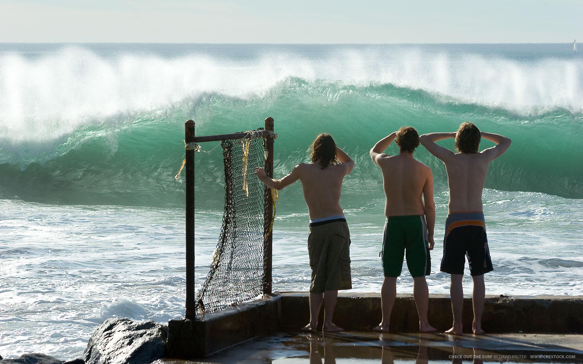 Mirando las olas Surf - 1920x1200