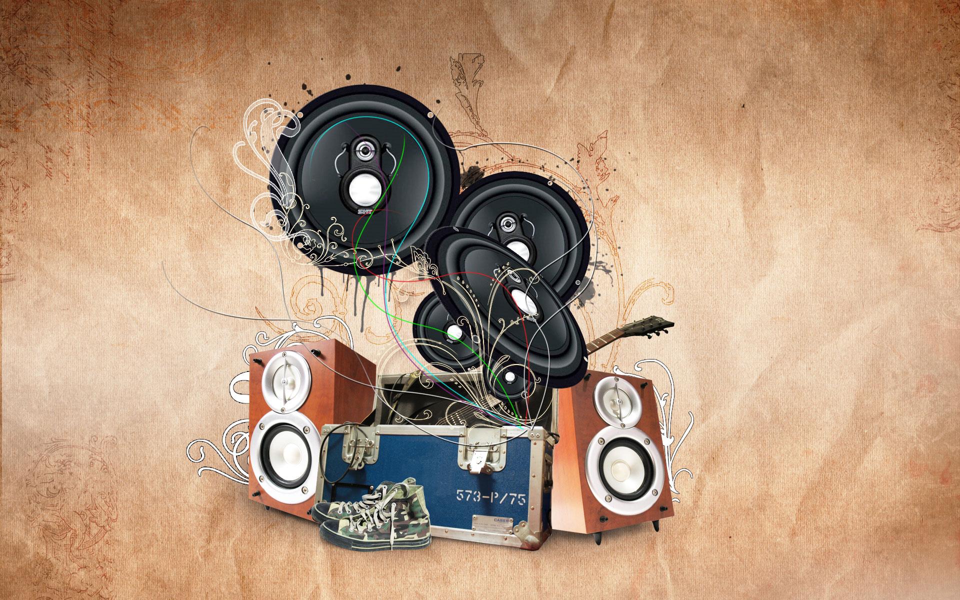 Parlantes de música - 1920x1200