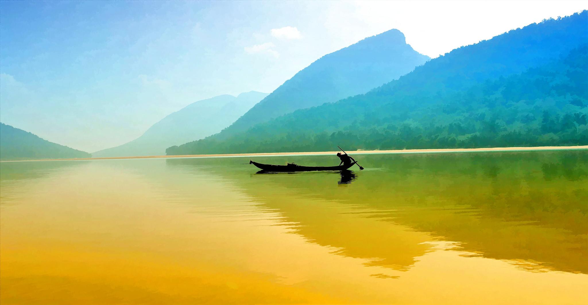 Pesca en un rio - 2048x1061