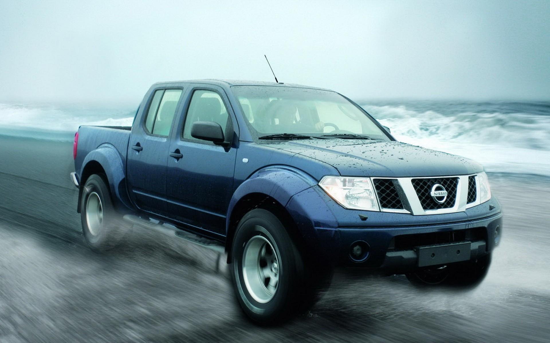 Pickup Nissan azul - 1920x1200