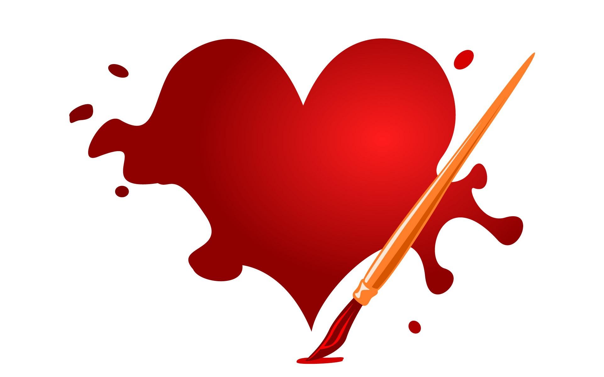 Pintando un corazón - 1920x1200