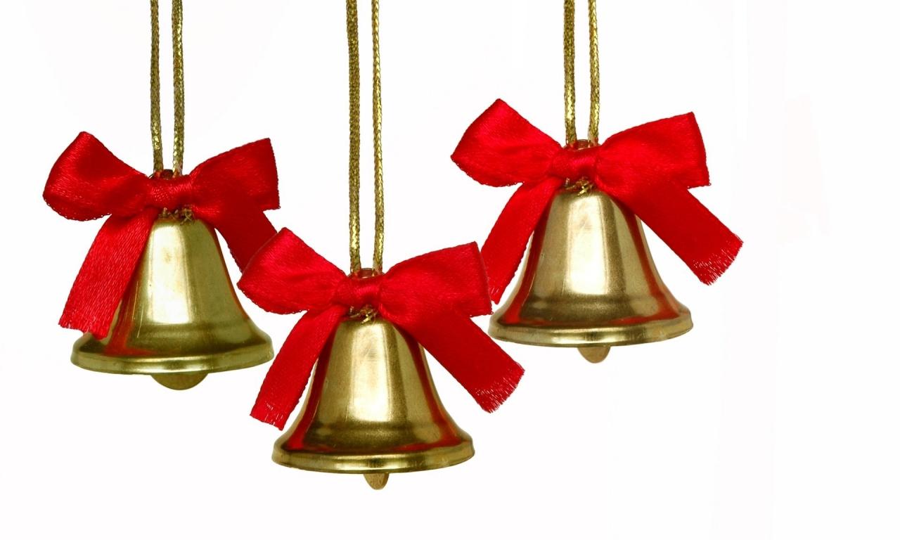 Adornos de campanas para árbol - 1280x768