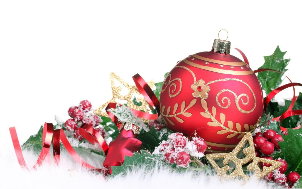 Adornos para árbol de Navidad - 1280x800