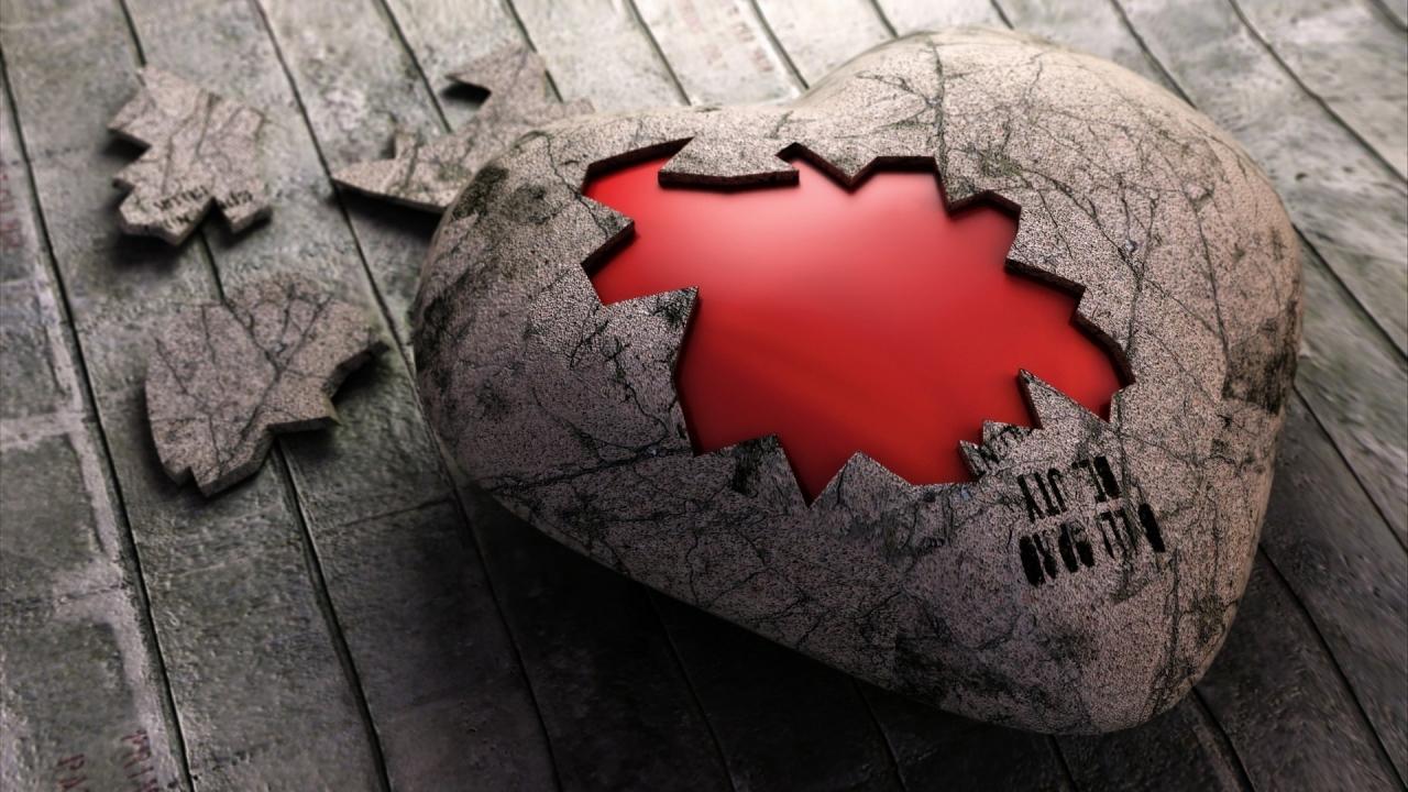 Un rompecabezas de corazón - 1280x720