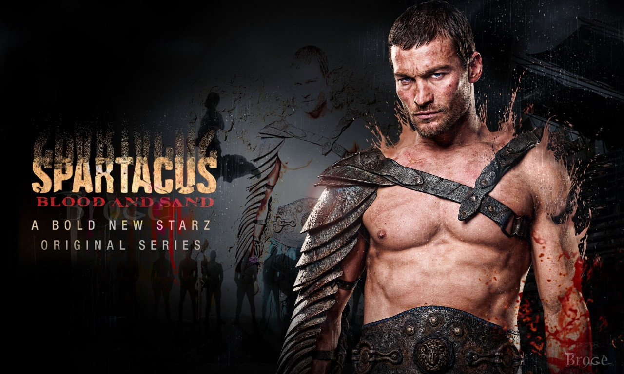Andy Whitfield en Spartacus - 1280x768