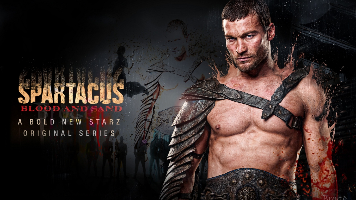 Andy Whitfield en Spartacus - 1366x768