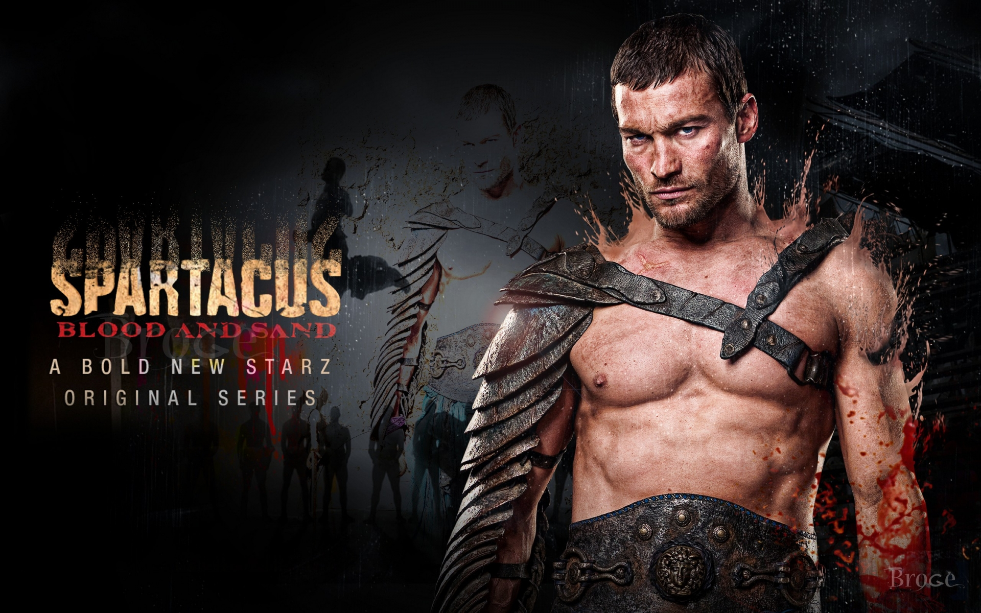 Andy Whitfield en Spartacus - 1920x1200
