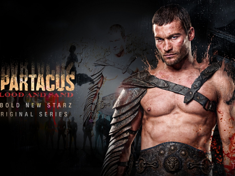 Andy Whitfield en Spartacus - 800x600