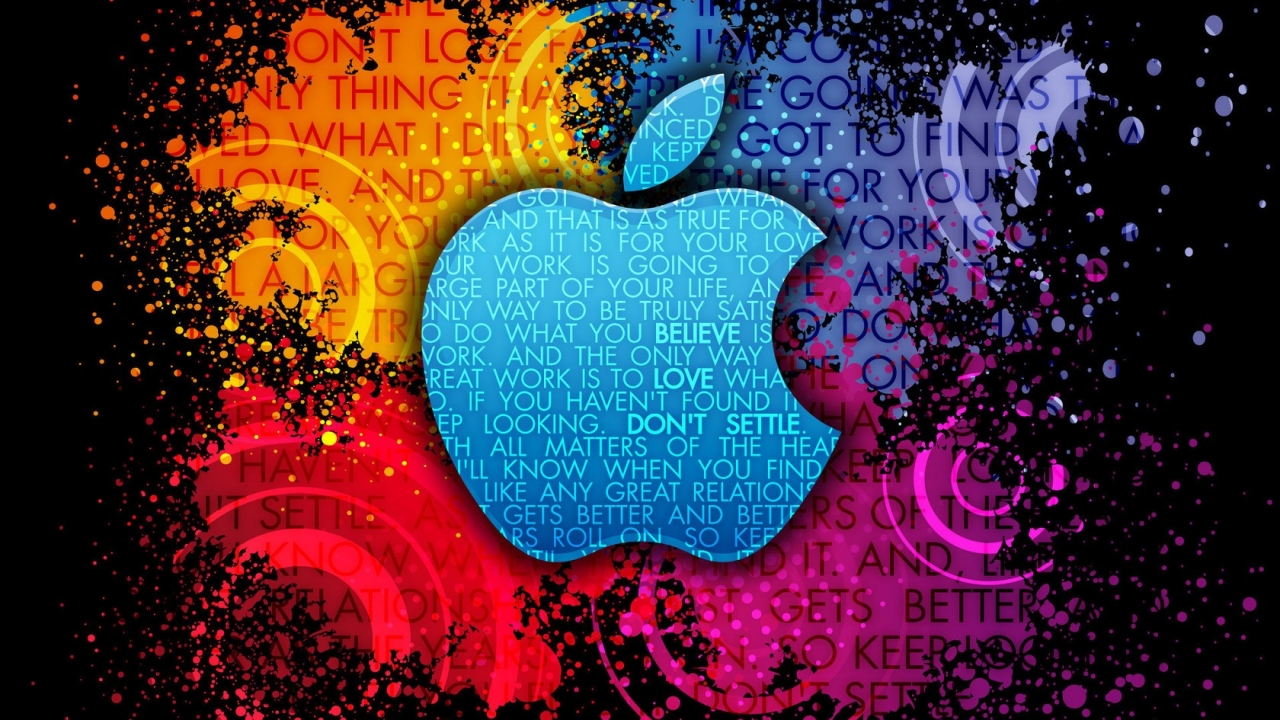 Apple Abstracto - 1280x720