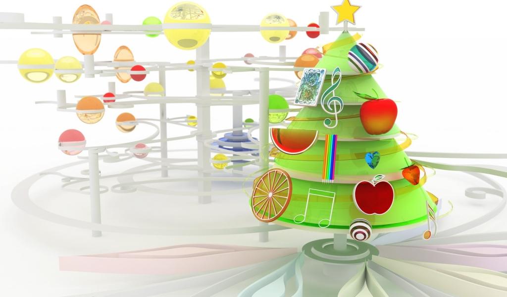 Arbol de navidad en 3D - 1024x600