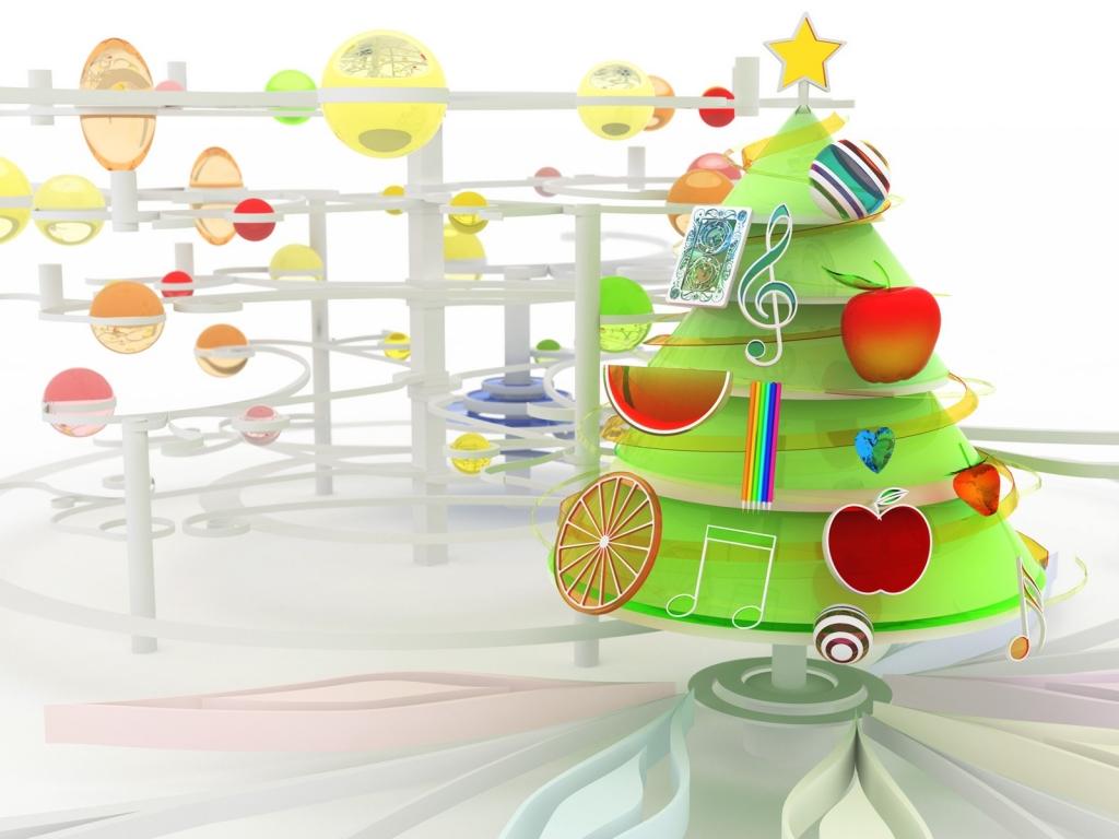 Arbol de navidad en 3D - 1024x768