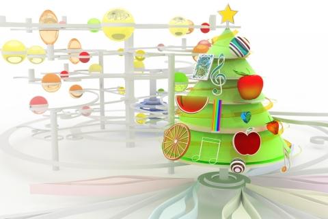 Arbol de navidad en 3D - 480x320