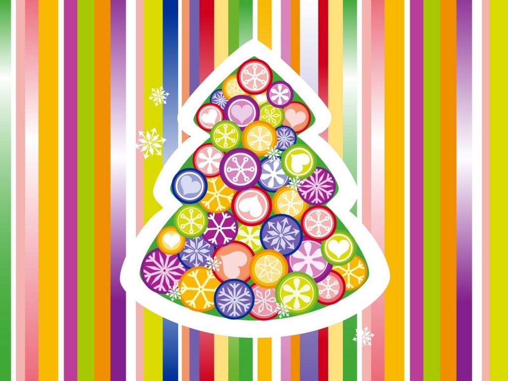 Arbol de navidad multicolor - 1024x768