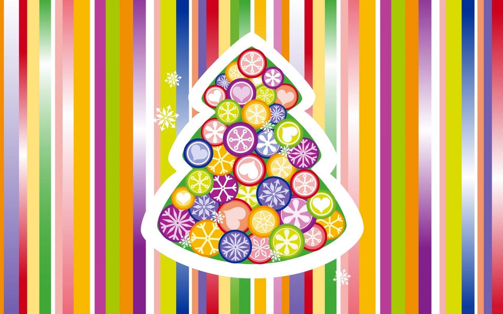 Arbol de navidad multicolor - 1680x1050