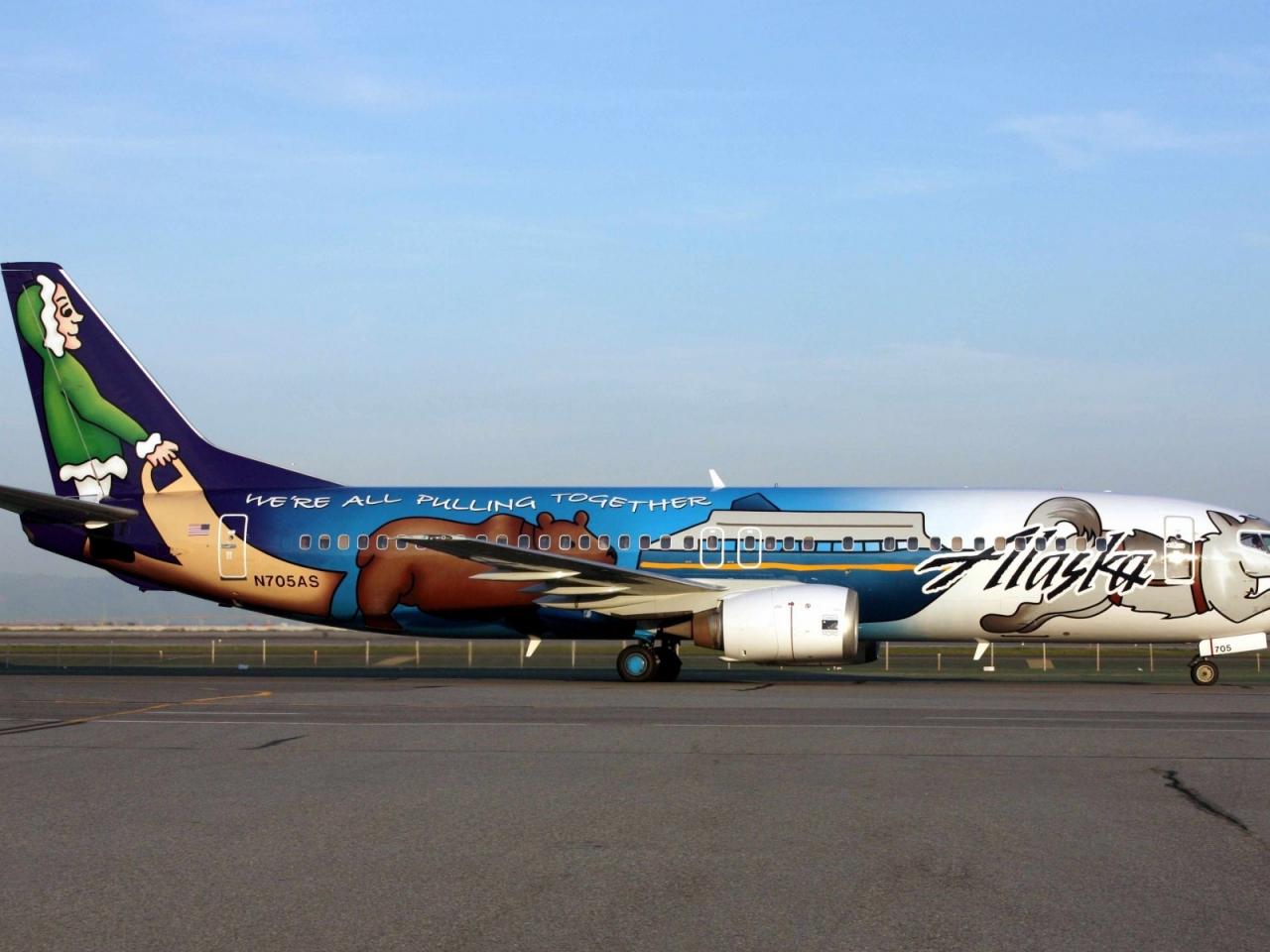 Avión comercial de Alaska - 1280x960