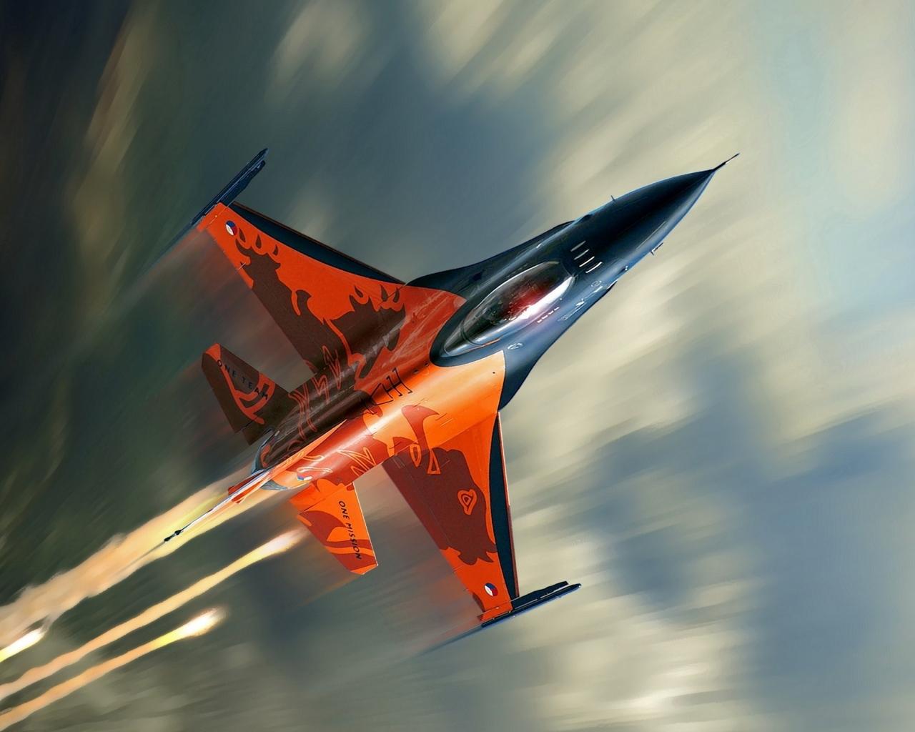Avión F16 Falcon - 1280x1024