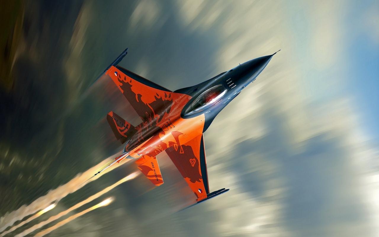 Avión F16 Falcon - 1280x800