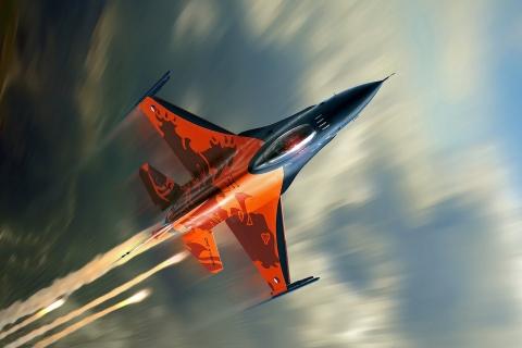 Avión F16 Falcon - 480x320