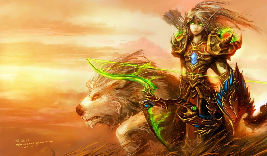 Blood Elf de World of Warcraft - 1024x600